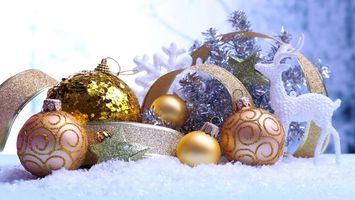Заставки новый год, новогодние обои, украшения, Рождество, фон, дизайн, ёлочные игрушки, шары