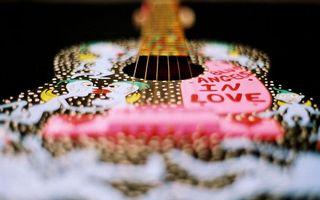 Бесплатные фото гитара,акустическая,струны,грмф,рисунки,надписи
