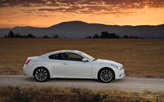 Photo free Infiniti, Coupe, white