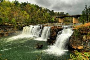 Бесплатные фото Little River Canyon National Preserve,Little River Falls,река,водопад,скалы,деревья,пейзаж