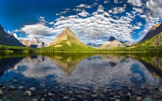 Бесплатные фото озеро,отражение,горы