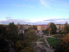Бесплатные фото Приозерск,детская площадка,дома,деревья