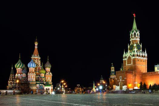 Фото бесплатно Московский Кремль, Собор Василия Блаженного, Россия
