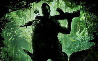 Бесплатные фото джунгли,солдат,боец,автомат,нож,стрелы