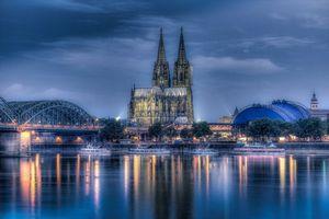 Бесплатные фото Германия,Река Рейн,Кёльн,Кёльнский собор
