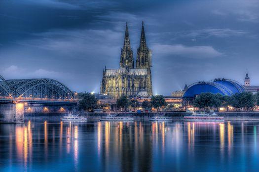 Фото бесплатно Германия, Река Рейн, Кёльн