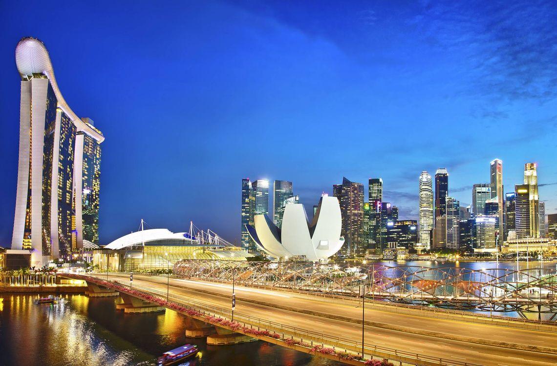 Заставка сингапур, город на компьютер