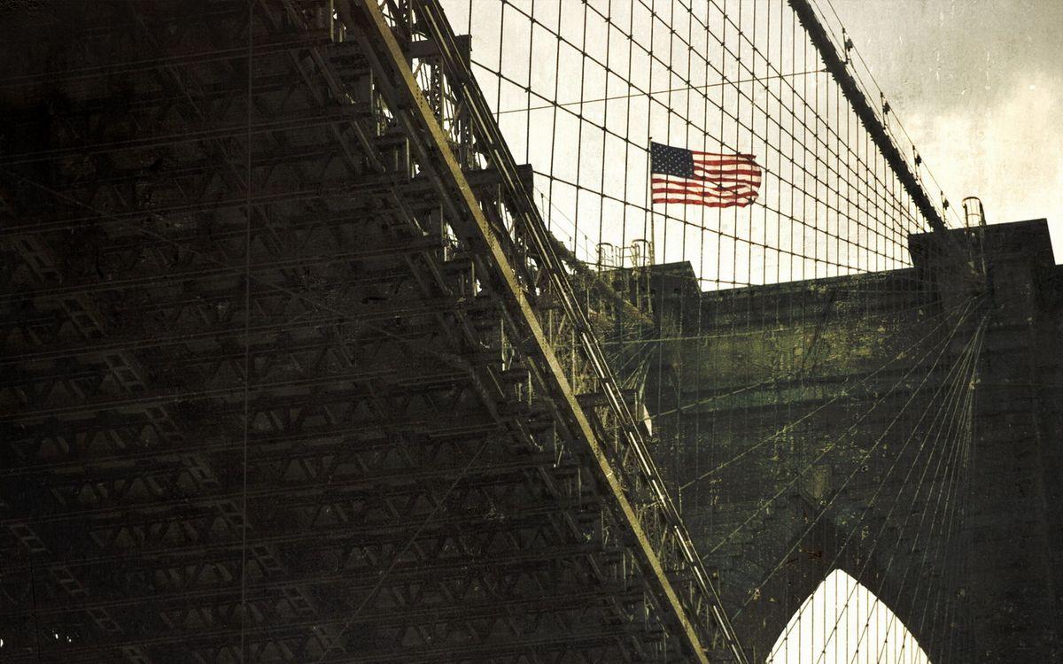 Фото бесплатно строение, конструкция, стекло, панели, отражение, флаг, сша, город