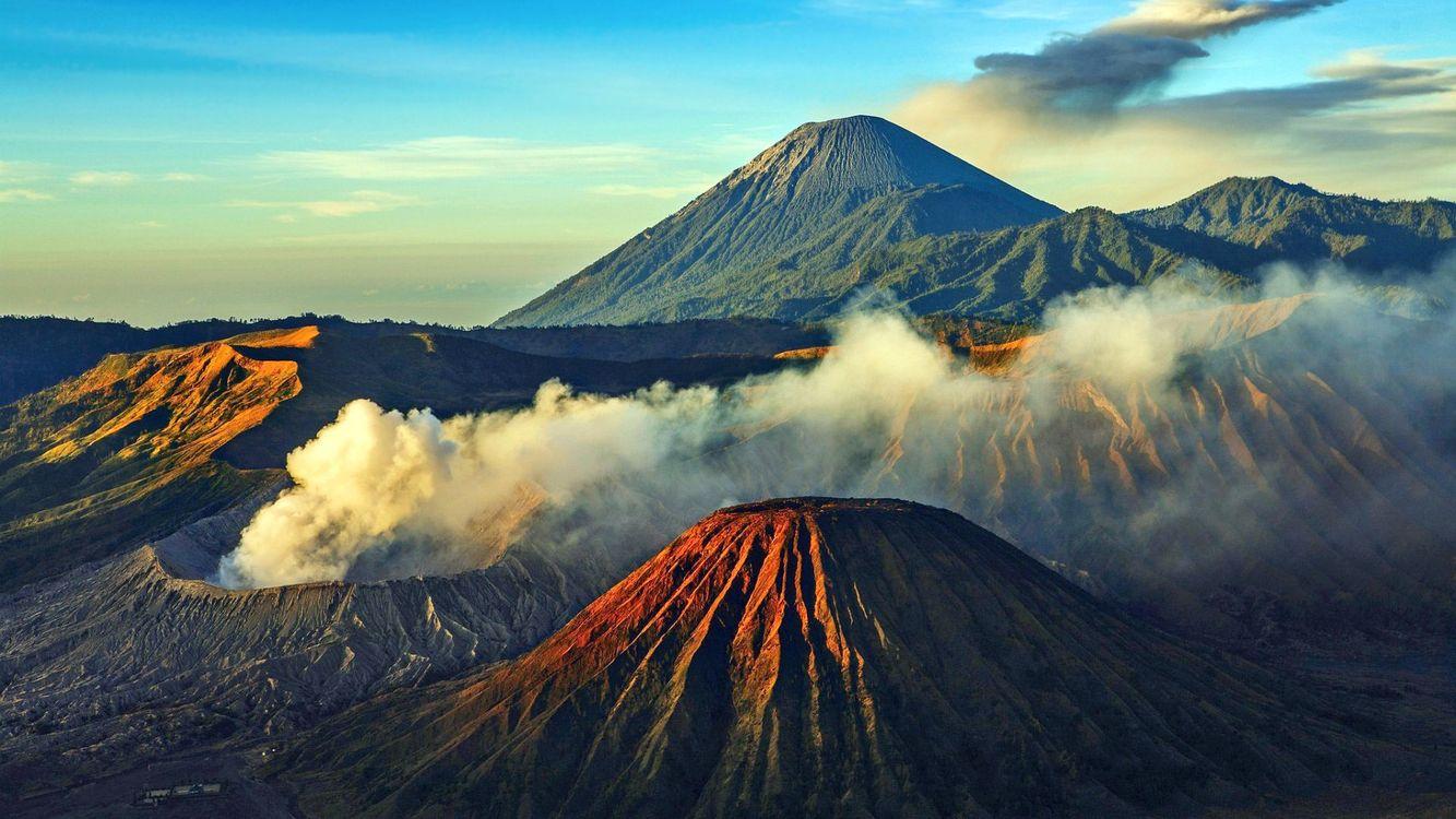Фото бесплатно действующие, вулканы, возвышенности - на рабочий стол