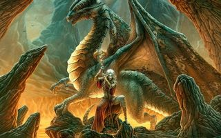 Бесплатные фото жерло,лава,колдунья,посох,дракон,крылья