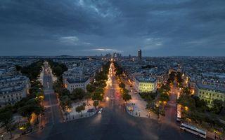 Бесплатные фото Париж, Франция, ночь, огни