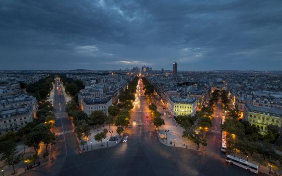Бесплатные фото Париж,Франция,ночь,огни