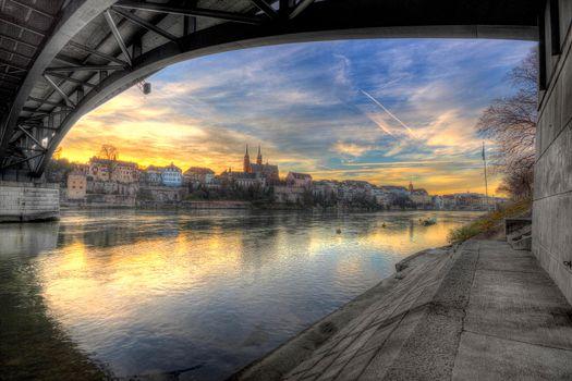 Фото бесплатно Базель, Швейцария, Рейн