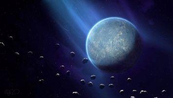 Фото бесплатно искусство, метеориты, космос