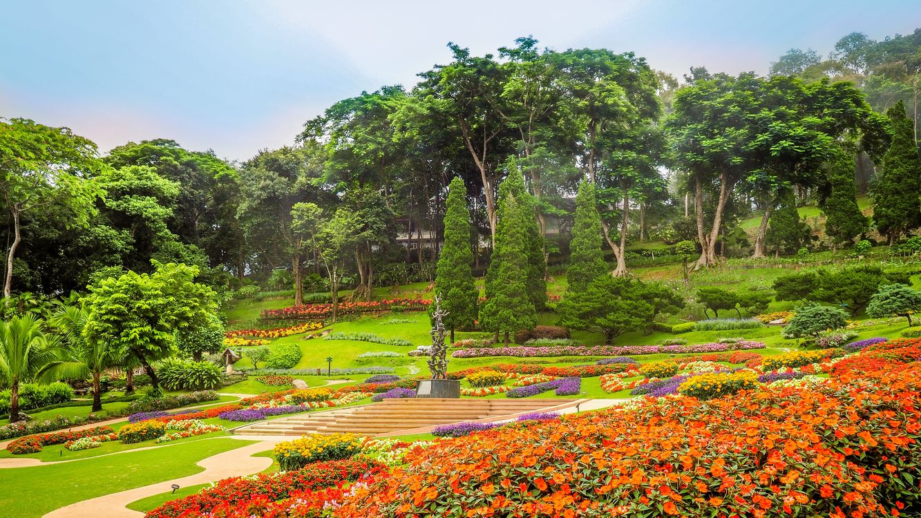 Free photo flowerbeds, Chiang Rai, Thailand - to desktop