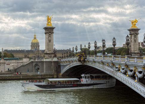 Photo free The Alexander III bridge, Paris, France