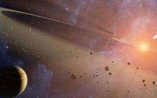 Бесплатные фото планета,метеориты,вспышка,кольца,звезды,свечение,невесомость