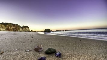 Заставки ракушки, песок, пляж