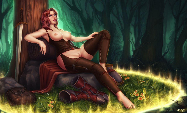 Фото бесплатно девушка, 3D, комиксы, Comix, эротика