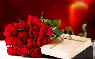 Photo free gift, bouquet, roses