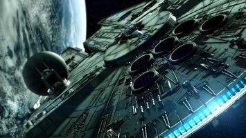 Бесплатные фото космический корабль, планета, звездные войны