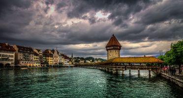 Картинка про город, швейцария