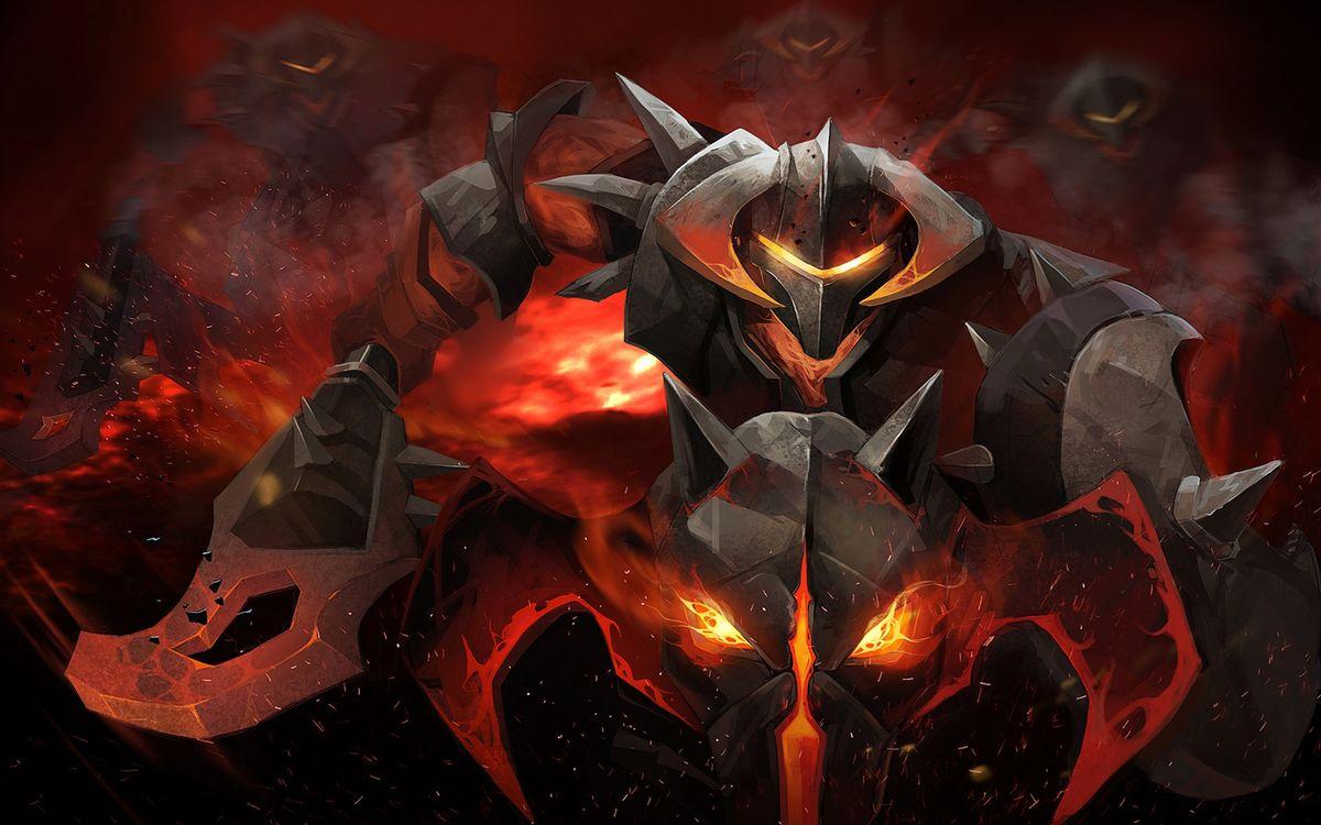 Фото бесплатно Дота, рыцарь, огонь - на рабочий стол