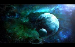 Фото бесплатно свечение, планеты, вакуум