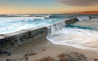 Бесплатные фото дамба,не достроенная,океан,волны,прилив,пляж,брызги