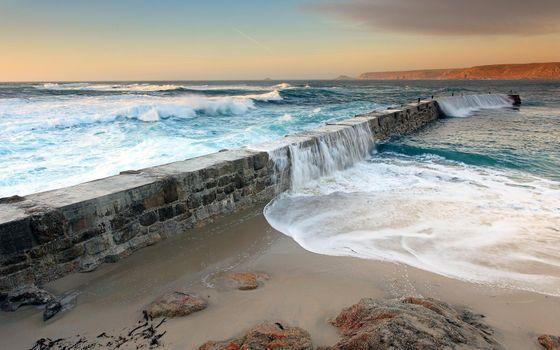 Фото бесплатно дамба, не достроенная, океан