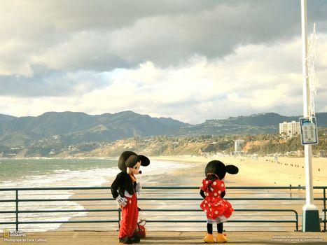 Фото бесплатно мики-маус, берег, море