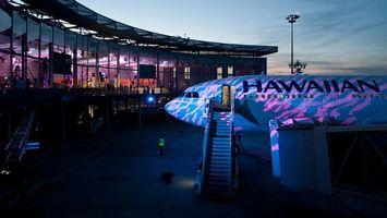 Бесплатные фото аэропорт,самолет,пассажирский,вокзал,небо,голубое,вечер