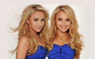 Фото бесплатно блондинки, близнецы, глаза