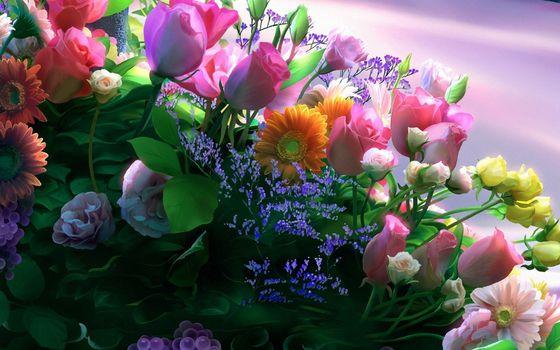 Бесплатные фото бутоны,лепестки,листья,стебли,цветки,букет,цветы
