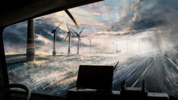 Фото бесплатно дорога, тучи, шторм