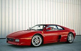 Фото бесплатно ферари, красная, диски, зеркало, колеса, скорость, машины