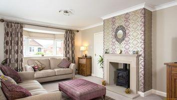 Фото бесплатно гостиная, диван, камин