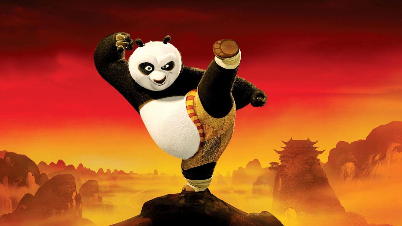Фото бесплатно мультик, анимэ, панда, комедия, голы, каратэ, мультфильмы, мультфильмы