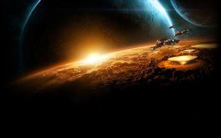 Фото бесплатно планеты, солнце, космос