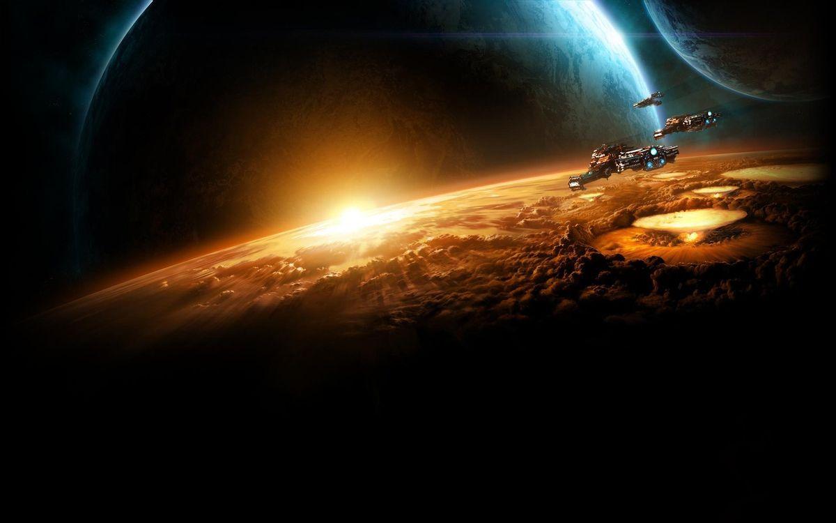 Фото бесплатно планеты, солнце, космос - на рабочий стол