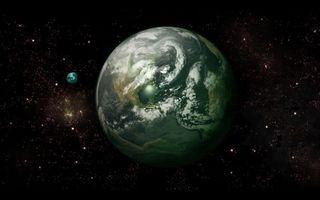 Фото бесплатно планеты, звезды, светятся, созвездия, невесомость, вакуум, космос