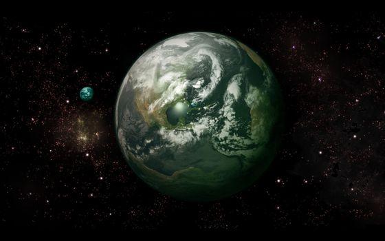 Заставки планеты, звезды, светятся