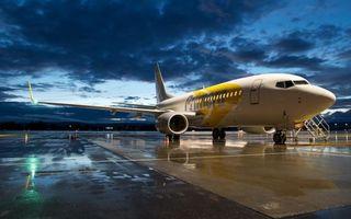 Бесплатные фото самолет,пассажирский,небо,облака,тучи,вечер,закат
