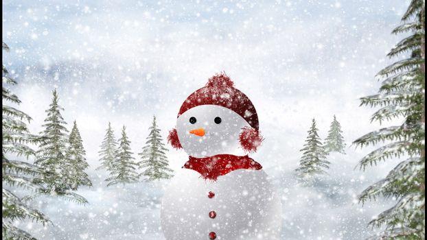 Фото бесплатно снег, снежинки, елки