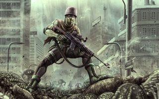 Бесплатные фото солдат,человек,автомат,форма,шлем,город,пришельцы