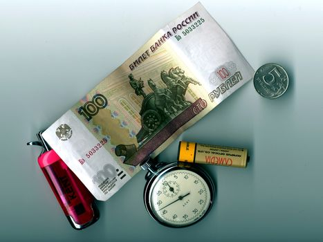 Photo free one hundred rubles, a coin, 5 rubles