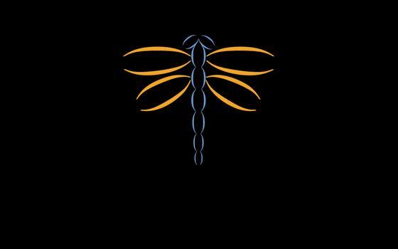 Фото бесплатно стрекоза, крылья, голова