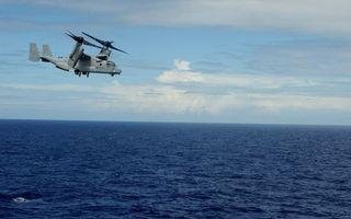 Бесплатные фото вертолет,вода,океан,полет,небо,облака,высота