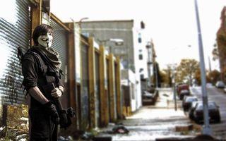Фото бесплатно anonymous, улица, оружие