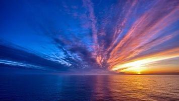 Фото бесплатно солнце, океан, море